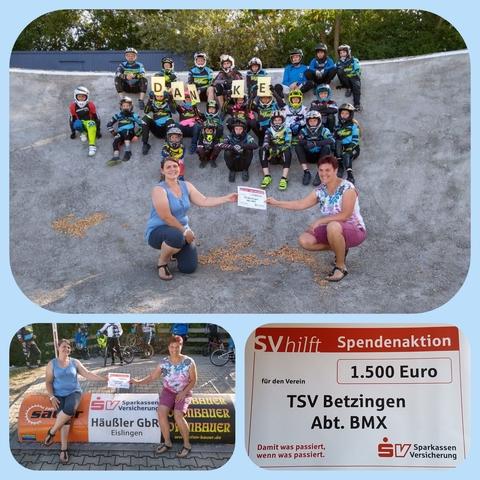 SV Sparkassen Versicherung Spende für die BMX Abteilung