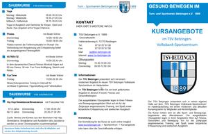 DAS KURSPROGRAMM HERBST ist voraussichtlich ab 29.08.2020 online